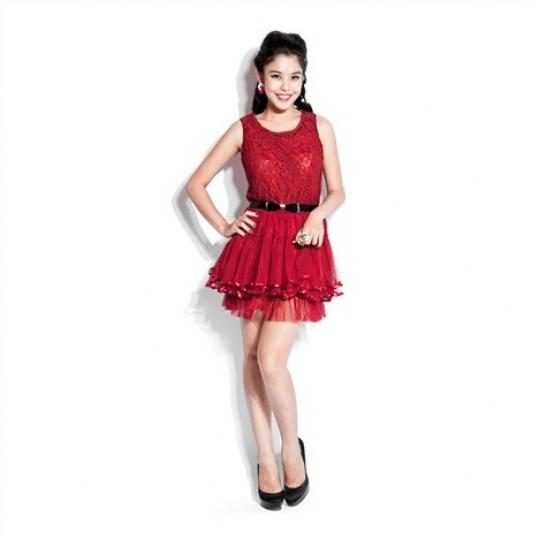 Đầm Ren Sát Cánh Chân Váy Voan