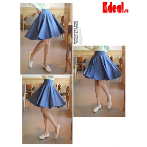 Chân váy Form dáng xòe ngang gối