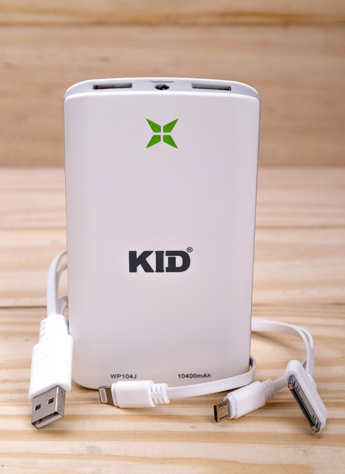 K Deal - Pin Sac Du Phong Da Nang Kid 10400 mAh White