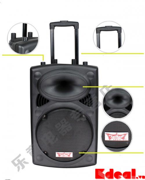K Deal - Loa Vali Di Dong hat karaoke 6814L 120W