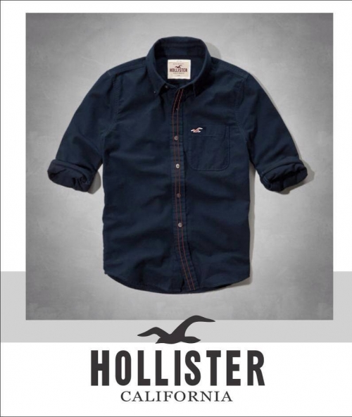 K Deal - Ao so mi Hollister nam xanh dam