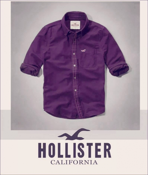 K Deal - Ao so mi nam Hollister mau tim