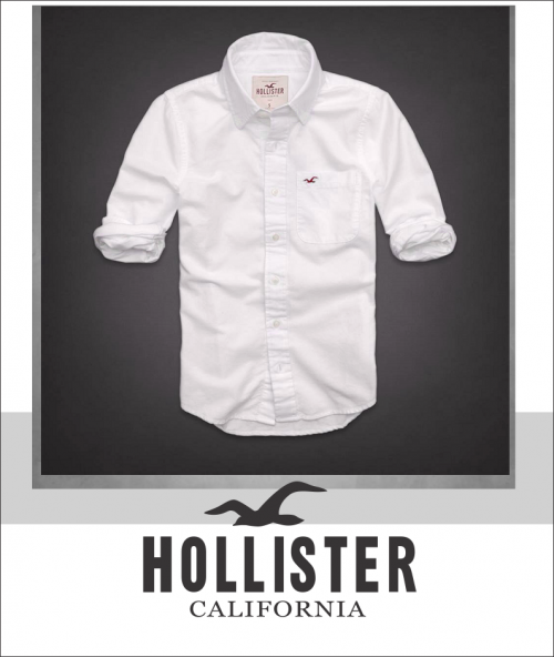 K Deal - Ao so mi nam Hollister mau trang