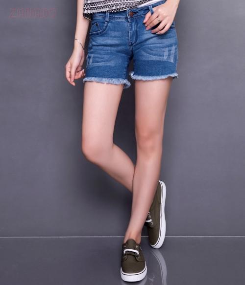 K Deal - Quan short jean nu cao cap KD01
