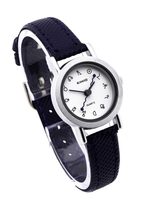 Đồng hồ nam kimio dây da - xanh đen