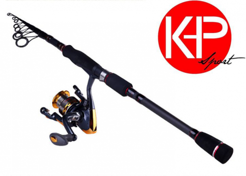 K Deal - Bo Can Cau Lure Telescopic Cacbon Sieu Nhe 3M + May 4000 Daido
