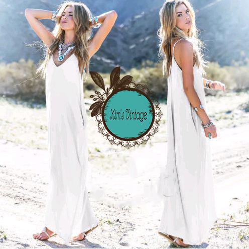 Đầm Suông 2 Dây Đi Biển Quyến Rũ