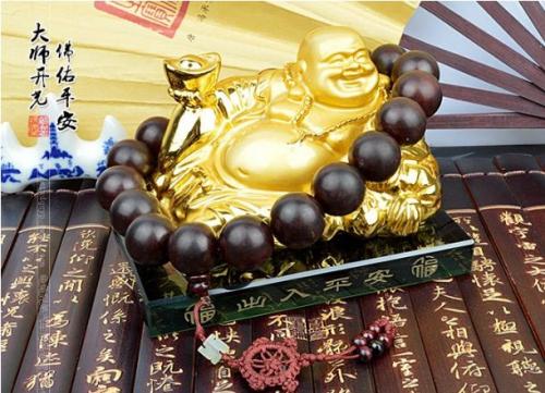 Phật Di Lạc Phong Thủy Mạ Vàng