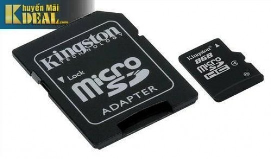 Thẻ nhớ 8GB Kingston + Adapter