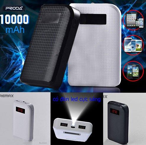 Pin sạc dự phòng Remax Proda 10000 mAh giá rẻ chỉ 330.000 vnđ . Giá rẻ nhất tại Khuyenmaigiare