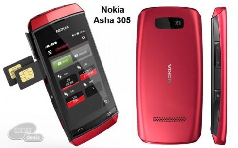 Điện Thoại Nokia Asha 305 hai ...