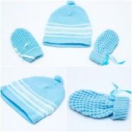 Combo 2 bộ mũ và bao tay len sơ sinh