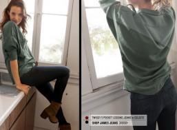 Quần legging dài giả jeans sành điệu