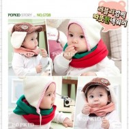 Combo 02 khăn quàng len kiểu Hàn Quốc cho bé