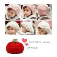 Mũ len hình bánh bao dễ thương cho bé