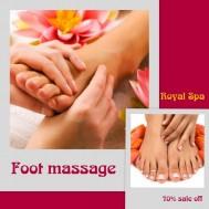 Massage chân tại Royal spa