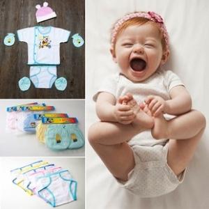 Combo áo + tã + nón + bao tay chân cho trẻ sơ sinh