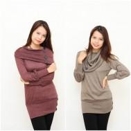 Áo len dáng dài kèm khăn ống thời trang