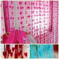 Trang trí nhà cửa với rèm cửa trái tim
