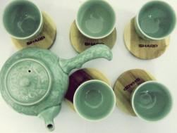 Bộ ấm trà men ngọc Hàn Quốc