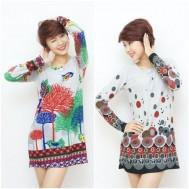 Áo len thời trang dáng dài