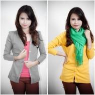 Nữ tính cùng áo khoác nhẹ dài tay