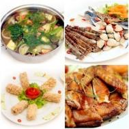 Lẩu hải sản chua cay, Gà nướng Phù Đổng