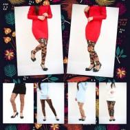 Quần Legging da lộn họa tiết cho nữ