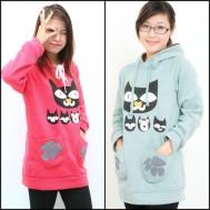 Cá tính cùng áo nỉ hình mèo cho bạn gái