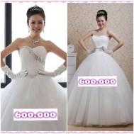 Đầm xòe công chúa và soiree cưới xinh xắn