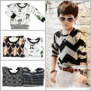 Combo 02 áo len dài tay họa tiết cho bé trai