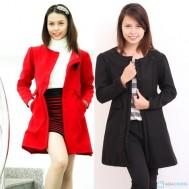 Áo váy dạ hai lớp thời trang và thanh lịch