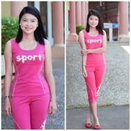 Đồ bộ mặc nhà kiểu thể thao trẻ trung