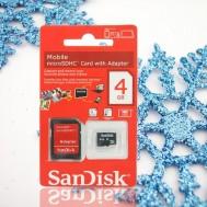 Thẻ nhớ 4GB Sandisk và Adapter đọc thẻ
