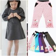 Combo 2 quần chấm bi 2 lớp cho bé gái