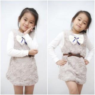 Váy lông mềm mại cho bé