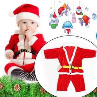 Bộ quần áo ông già Noel bằng vải nhung cho bé - 1 - Đồ Chơi