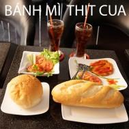 02 bánh mì cua - 02 ly coca