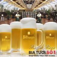 Buffet bia tại nhà hàng Bia Đức Bitburger