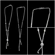 Vòng cổ bạc đính đá thời trang