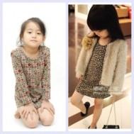 Combo 02 váy len họa tiết cho bé gái