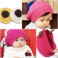 Mũ nồi len xinh xinh cho bé