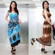 Quyến rũ nữ tính với váy maxi thun lạnh