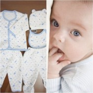 Bộ quần áo bông hình thỏ cho bé
