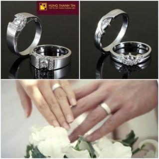 Nhẫn đôi bạc cao cấp Valentine ngọt ngào, lãng mạn