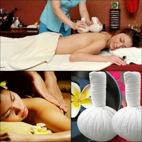 Massage body túi chườm thảo dược
