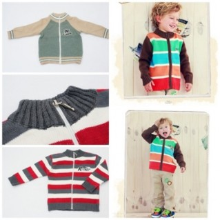 Phong cách với áo len kéo khóa cho bé