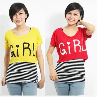 Áo lửng Crop top kèm áo sọc bên trong - 1 - 2 - Thời Trang Nữ - 1 - 2 - Thời Trang Nữ