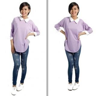 Quần legging giả jeans rách sành điệu - 1 - Thời Trang Nữ