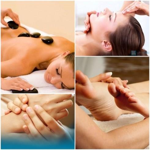 Massage body đá nóng hoặc gừng